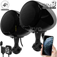 600W Motorcycle Bluetooth Wireless Speaker USB Audio System Stereo ATV UTV CanAm
