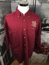 Tri Mountain Button Front Shirt Mens Large Long Sleeve Ruffed Grouse Society