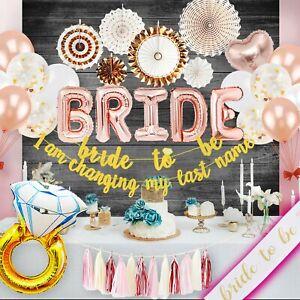 Bridal Shower Bachelorette Party Decorations Kit Banner Rose Gold PGNART (75PCs)