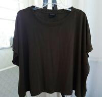City Chic Size XL Boxy Crop Top Khaki Short Sleeve CCX