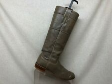 Justin Beige Leather Tall Cowboy Western Boots Womens Size 6 B Style L3073