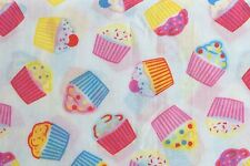 0.5 metre Cupcakes Polycotton Fabric 112cm wide