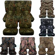 Jeep Wrangler YJ/TJ/JK 1987-2018 Camo Seat Covers Front & Rear Full Set 2/4 Door