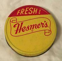 Vintage Advertising Tin Jar Lid HESMER'S