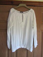 Womens Mint Velvet Ivory Long Sleeve Top - Size 14