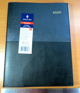 OLD Diary 2020 Vanessa Spiral A4 Day to  Page 145 Stitched two toned GREY BLACK
