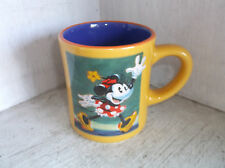 The Disney Store MINNIE MOUSE Classic Painting Mug Cup Yellow Blue