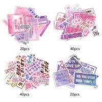 40pcs Japanese Sentence Journal Paper Diary Flower Stickers DIY Scrapbooking
