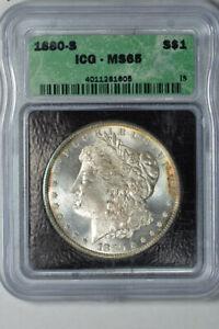 1881 S Morgan Silver Dollar ICG MS65 GEM Uncirculated MS UNC