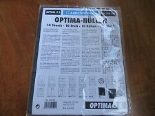 Leuchtturm Lighthouse Optima 3S 10 Album Pages for Banknotes, Shares, Stamps