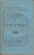 C1 BELGIQUE Henri Hendrik CONSCIENCE Le GANT PERDU Michel Levy 1872 Flandre