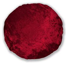 mv27n Hot Red Shimmer Diamond Crushed Velvet Style Round Shape Cushion Cover