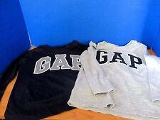 BABY GAP~Lot of 2 LONG SLEEVE Tee T-SHIRTS~Gray & Navy Blue~Boys Size 4