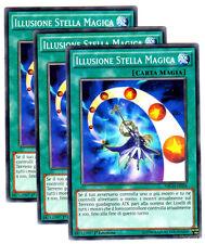 Set 3X ILLUSIONE STELLA MAGICA NECH-IT058 Comune in Italiano YUGIOH