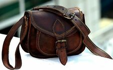 Handbag Cross body Women's  Brown Leather Tote Purse Shoulder Messenger Bag Tote