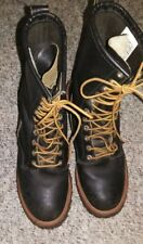 RED WING SHOES~Brown Men's LACE UP WORK LEATHER BOOTS w/ Vibram Soles 9 1/2 E