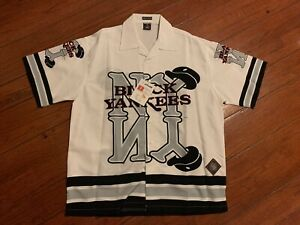 Vintage New York Black Yankees Negro League Button Up Shirt Sz. XL