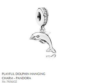 PANDORA Charm Sterling Silver ALE S925 DOLPHIN 791541CZ