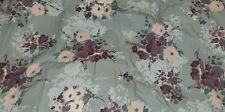 """New Lauren Conrad """"Bouquet"""" Comforter Tufted Sage Green/Purple Floral Full/Queen"""