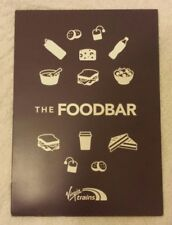 VIRGIN TRAINS EAST COAST FOOD BAR MENU Railway Dining Buffet Car Drink UK Rail