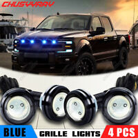 4Pcs Blue LED Front Grille Running Lights For 2010-2014 Ford SVT 2017-up Raptor