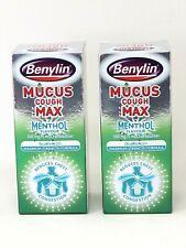 x2  Benylin Mucus Cough MAX Menthol Flavour 150ml Chest Congestion Exp 08/22