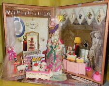 Marie Antoinette Bakery Cigar Box Diorama Mixed Media Collage Art OOAK