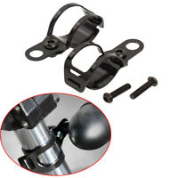 Black Motorcycle Front Fork Metal Turn Indicator Light Holder Mount Lamp Bracket