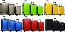 """""""Dejuno"""" Polycarbonate Upright Hard Shell Suitcases Spinner Luggage Set"""