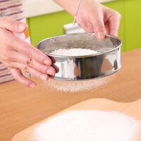 Stainless Steel Wire Fine Mesh Oil Strainer Flour Colander Sifters Sieve Kitchen