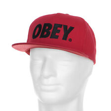 Obey Hats the City Snapback Smu True Red