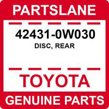 42431-0W030 Toyota OEM Genuine DISC, REAR