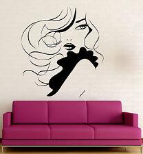 Wall Stickers Vinyl Decal Hot Sexy Woman Beauty Salon Spa Fashion Hair (ig1115)