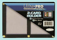 ULTRA PRO BLACK FRAME 2 CARD SCREWDOWN HOLDER Screw Clear Double Wall Display