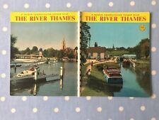 J SALMON of SEVENOAKS: RIVER THAMES Cameracolour Tourist Book postcards PChaplin