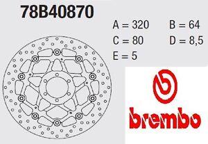 Paar Bremsscheiben Brembo Serie Gold Ducati 1000 Gt 1000 Touring 06>10