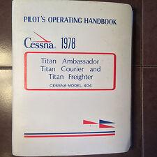 1978 Cessna 404 Titan Pilot's Operating Handbook