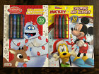 Lot of 2 Coloring Activity Books Rudolph  Disney Junior Mickey Mouse Christmas