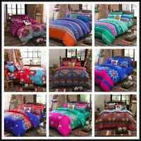 Bohemian Ethnic Duvet Quilt Cover Pillow Case Bedding Set Twin Double/Queen King