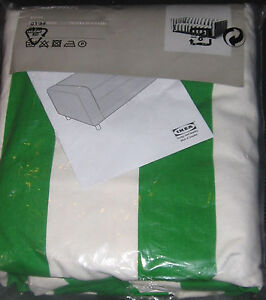IKEA Klippan Loveseat Sofa COVER Green White RANTEN 2 Seat SLIPCOVER Stripes