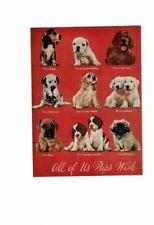 Vintage 1954 Adorable Puppies Terrier Poodle Boxer Spaniel Irish Setter Ad Print