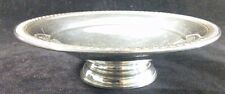 """Vintage Sterling Silver Compote Marked C inside of a Heart 6 3/8"""" wide 129g"""