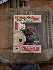 Marvel Stan Lee firmado! Funko Pop Vinilo Figura UK London Film Comic Con Exclusive