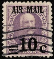 Canal Zone - 1929 - 10 Cents on 50 Cents Lilac Surcharged Airmail Issue # C4 VF