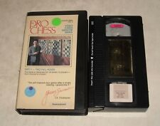 VHS TAPE in CLAM SHELL CASE - PRO CHESS MENTOR SERIES VIDEO INSTRUCTIONAL