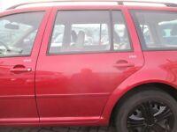 Tür hinten links VW Golf 4 Bora Variant canyonred LC3K dunkelrot