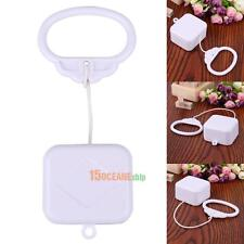Pull String Cord Music Box White Baby Infant Kids Bed Bell Rattle Toy Gift
