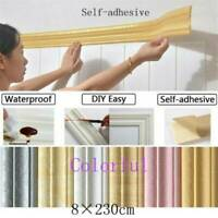 2.3m Waterproof 3D Pattern Wall Border Home Wall Decor Removable Sticker