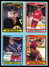 1990 O-PEE-CHEE OPC Ray Bourque Steve Yzerman ENM BOX BOTTOM 4 CARD UNCUT PANEL