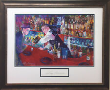 "LeRoy Neiman ""Frank at Rao's"" CUSTOM FRAMED Art HAND SIGNED Lithograph Sinatra"
